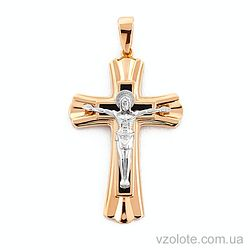 Золотой крестик с эмалью (арт. 501045ч)