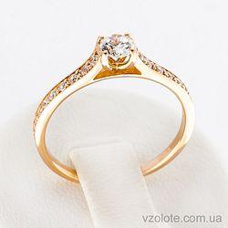 Золотое кольцо с фианитами (арт. 12181)