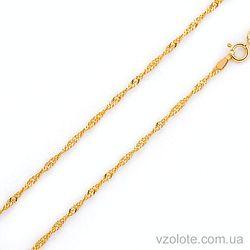 Цепочка из лимонного золота Сингапур (арт. 303201ж) 40 см