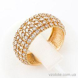 Золотое кольцо с фианитами (цирконием) (арт. 11921с)