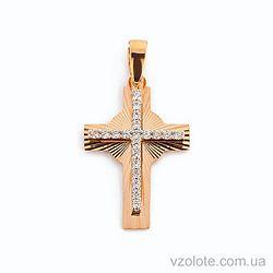 Золотой крестик с фианитами (арт. 443832)