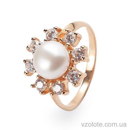 Кольцо золотое с жемчугом (арт. 111239)