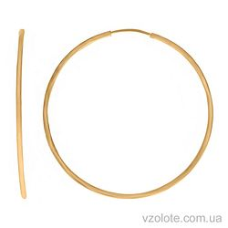 Золотые серьги-кольца (арт. 2002453103)