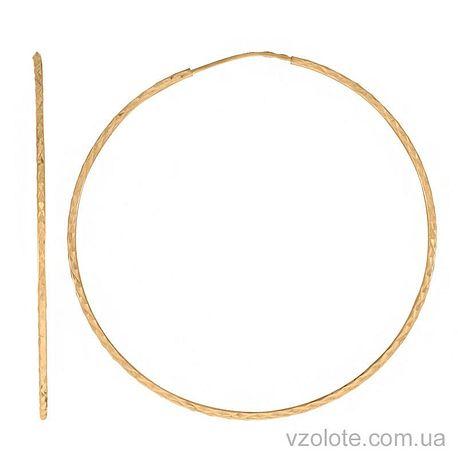 Золотые серьги-кольца (арт. 2002452103)