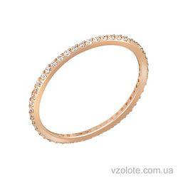 Золотое кольцо с фианитами (арт. 1101281101)