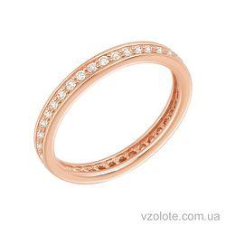 Золотое кольцо с фианитами (арт. 1190331101)