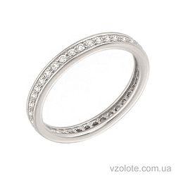 Золотое кольцо с фианитами (арт. 1190331102)