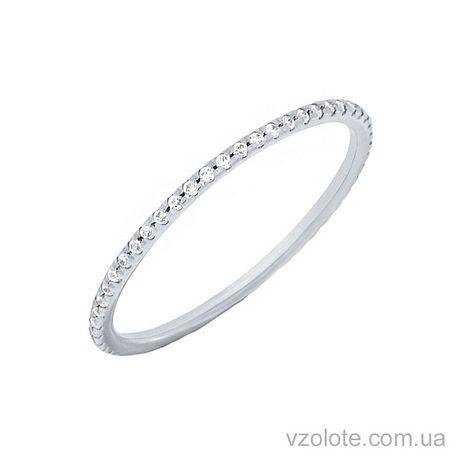 Золотое кольцо с фианитами (арт. 1101483102)