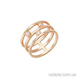 Золотое кольцо с фианитами (арт. 1101130101)