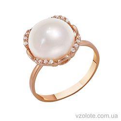 Золотое кольцо с жемчугом (арт. 1190283101)