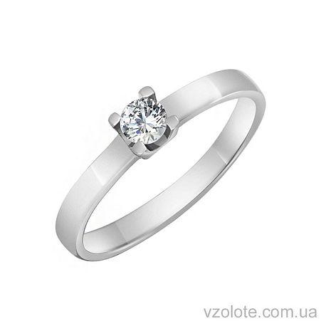 Золотое кольцо с фианитом (арт. 1101474102)