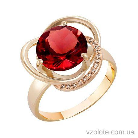 Золотое кольцо с гранатом (арт. 1190433101)