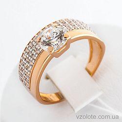 Золотое кольцо с фианитами (арт. 140425)