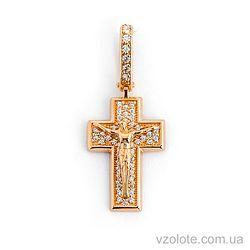 Золотой крестик с фианитами (арт. 270045)