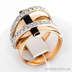 Золотое кольцо с агатом (арт. 379602)