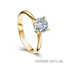 Золотое помолвочное кольцо с бриллиантом Crazy Love (арт. EKDG1)