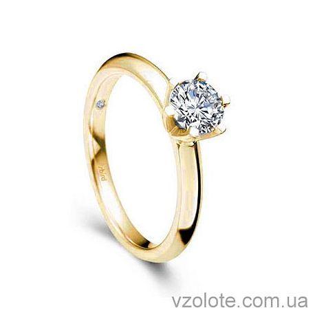 Золотое помолвочное кольцо с бриллиантом Diana (арт. EKDG3)