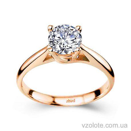 Золотое помолвочное кольцо с бриллиантом Love Generation (арт. ERDL77)