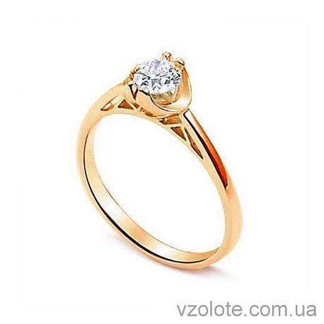 Золотое помолвочное кольцо с бриллиантом Paris Love (арт. ERD359)