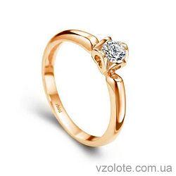 Золотое помолвочное кольцо с бриллиантом Classic Love (арт. ERD907) 4/4
