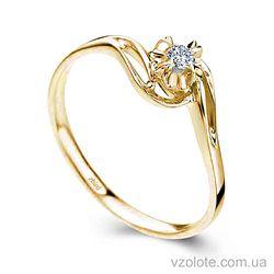 Золотое помолвочное кольцо с бриллиантом Lucky Freedom (арт. ERDH47) 4/4
