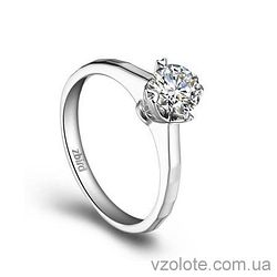 Золотое помолвочное кольцо с бриллиантом Eternity (арт. ERDC75) 4/4
