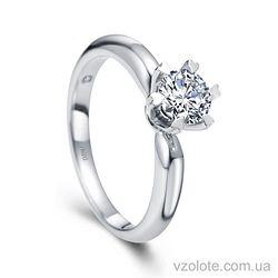 Золотое помолвочное кольцо с бриллиантом Tenderness (арт. RDR676) 4/4