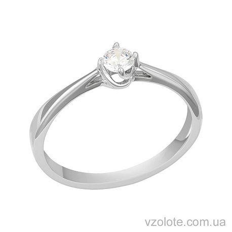 Золотое кольцо с бриллиантом (арт.1190751202)
