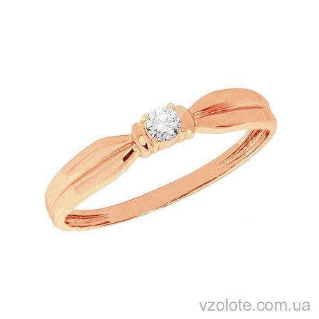 Золотое кольцо с бриллиантом (арт.1100972201)