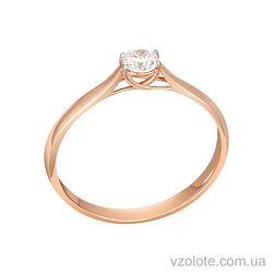 Золотое кольцо с бриллиантом (арт1100889201)
