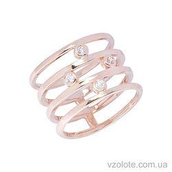 Золотое кольцо с фианитом (арт. 1101131101)