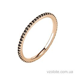 Золотое кольцо с фианитами (арт. 1101281101ч)
