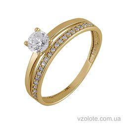 Золотое кольцо с фианитами (арт.1101429103)