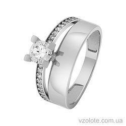 Купить золотое кольцо с фианитами (арт. 1101430102)