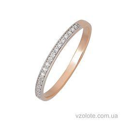Золотое кольцо с фианитами (арт. 1101480101)