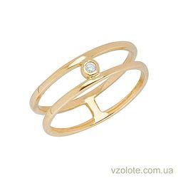 Золотое кольцо с фианитом (арт. 1101131103)
