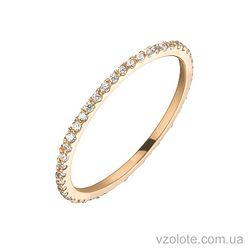 Золотое кольцо с фианитами (арт. 1101483101)