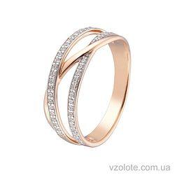 Золотое кольцо с фианитами (арт. 1101484101)