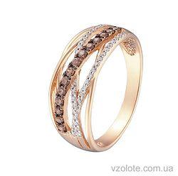 Золотое кольцо с фианитами (арт. 1101488101)