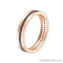 Золотое кольцо с фианитами (арт. 1102094101ч)
