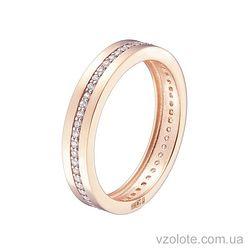 Золотое кольцо с фианитами (арт. 1102094101)