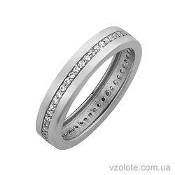 Золотое кольцо с фианитами (арт. 11020941012)