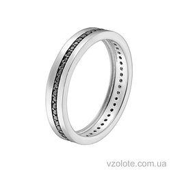 Золотое кольцо с фианитами (арт. 1102094102ч)