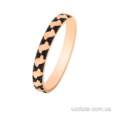 Золотое кольцо с фианитами (арт. 1102162101)