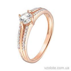 Золотое кольцо с фианитами (арт. 1102163101)