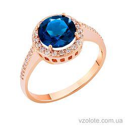 Золотое кольцо с сапфиром (арт. 1190021101с)