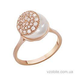 Золотое кольцо с жемчугом (арт. 1190281101)