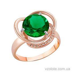 Золотое кольцо с хризопразом (арт. 1190433101х)