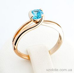 Золотое кольцо с фианитом (цирконием) (арт. 330287)