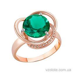 Золотое кольцо с кварцем (арт. 1190433101к)